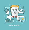 Multitasking vector image vector image