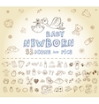 Newborn Icon set vector image vector image