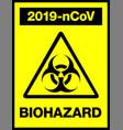 novel coronavirus 2019-ncov biohazard poster vector image vector image