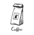 package of coffee vector image vector image