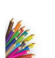 pencils colour with white background vector image
