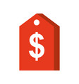 price tag dollar sale business concept vector image