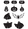 Pumpkin and ghosts vector image vector image