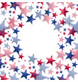 red and blue stars in round frame vector image