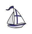 Sailboat icon Finland design graphic vector image vector image
