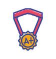 school medal symbol to intelligent student vector image