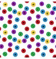 seamless lotto pattern isolated on white vector image vector image