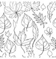 seamless pattern with autumn leaves endless vector image vector image