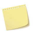 sheet of notebook vector image