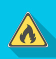 sign of flammabilityoil single icon in flat style vector image