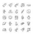 space and aircraft icons pack vector image