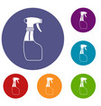 spray icons set vector image vector image