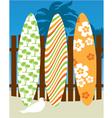 surf board scene vector image vector image