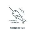 swordfish line icon linear concept vector image vector image
