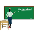 teacher back to school vector image vector image