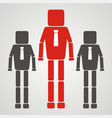 teamwork concept businessman with square head vector image