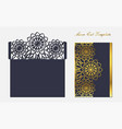 template for laser cutting envelope with floral vector image vector image