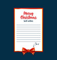 template for letters with best wishes for vector image vector image