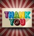 Thank You Vintage Card vector image vector image