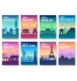 Travel of the world brochure with typography set vector image vector image