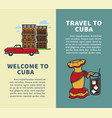 travel to cuba vertical booklets with sample text vector image vector image