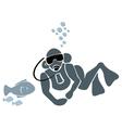 Underwater swimmer vector image vector image