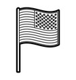 united state flagn vector image