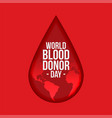 world blood donor day background vector image vector image