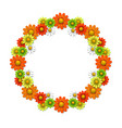 Wreath from bright flowers vector image vector image