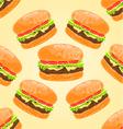 Seamless texture delicious big hamburgers vector image