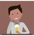 Man Drinking Beer vector image