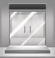 realistic detailed 3d glass transparent doors vector image