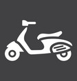 scooter glyph icon transport and vehicle vector image