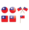 badges with flag of Taiwan vector image