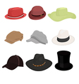 hat collaction set 01 vector image