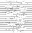 a little waves moving through line space vector image vector image
