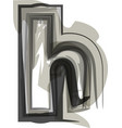 abstract letter h vector image vector image