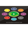 Audio Video Player buttons