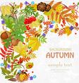 Autumn leaf pattern for your design vector image