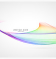 awesome colorful smooth wave background vector image vector image