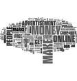 best methods to make money online text word cloud vector image vector image