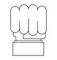 big fist icon outline style vector image vector image
