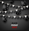 black friday wallpaper with shiny balloons and vector image vector image