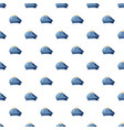 blue hat with a pompon pattern vector image vector image