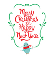 Christmas And New Year Lettering Frame vector image vector image