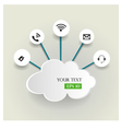 Cloud computing concept with icons vector image vector image