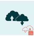 Cloud icon isolated vector image vector image