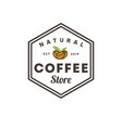 coffee nature hexagonal logo vintage template vector image vector image