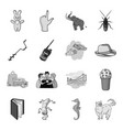 conic sea water and other web icon in monochrome vector image vector image
