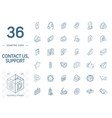 contact us and communication isometric line icons vector image vector image